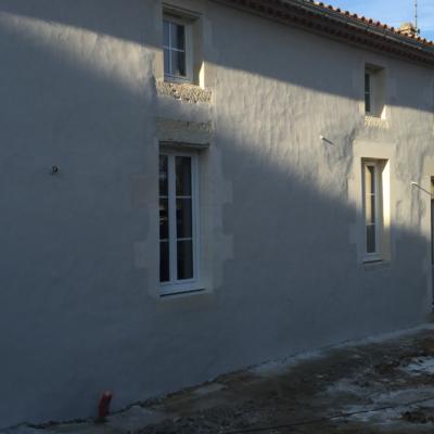Rénovation de façade maison pierre saint palais