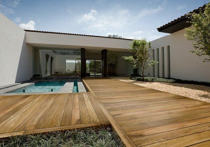 terrasse maison toit plat Saujon