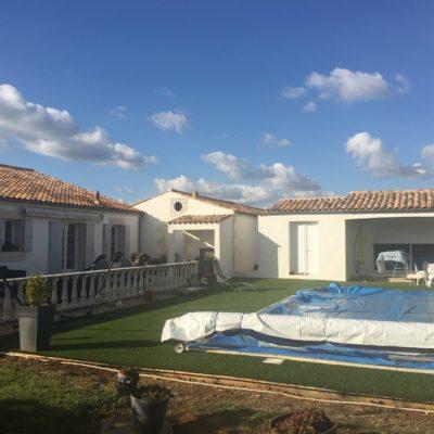 terrassement piscine et extension soulignonnes