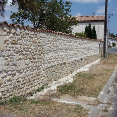 murette pierres apparentes